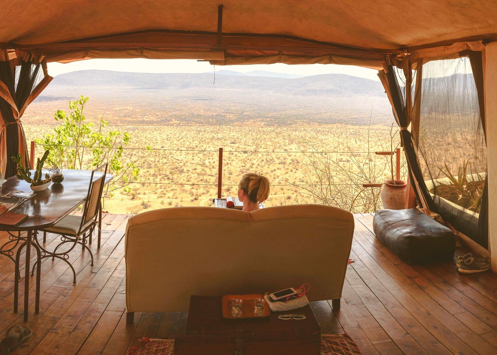 Earth Safari Tented lodge view terrace